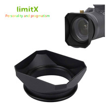 Retro Quadratische Form Objektiv Haube Für Leica D LUX Typ109 Panasonic DMC LX100 LX100 Mark II Kamera