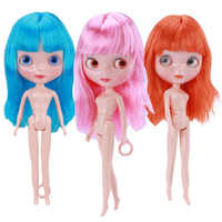 30cm Jointed BJD Dolls for Girl Fashion Blyth Doll Colour Hair DIY Makeup Nude Doll Dress Up Toys for Girls GIFT