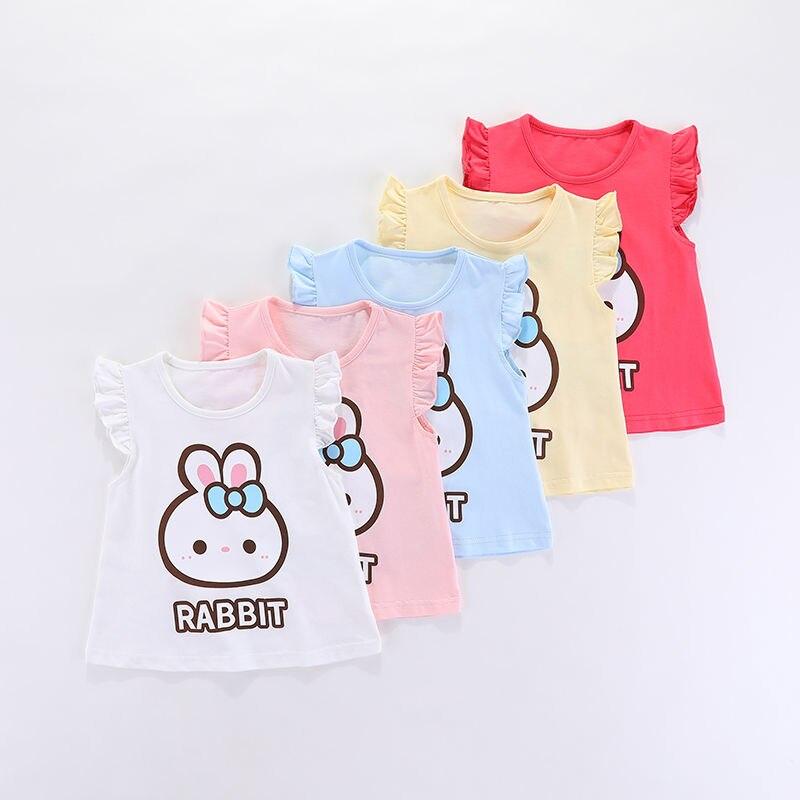 VIDMID Children baby girls kids Short Sleeve T-Shirts Baby girls unicorn rabbits summer girls casual cute cotton tops tees p2007 2