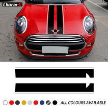 Car Styling Bonnet paski kaptur etykiety winylowe naklejki dla mini cooperf55 f56 clubman r55 f54 countryman r60 akcesoria