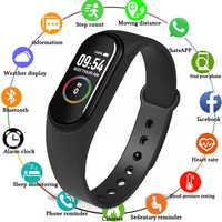 M4 bracelet intelligent fréquence cardiaque/sang/pression/bracelet intelligent moniteur/podomètre Fitness écran couleur étanche V5.0