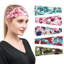 Women Wide Yoga Headbands Outdoor Running Cycling Sweatbands Quick-drying Hair Band Turban Bandana for Hiking
