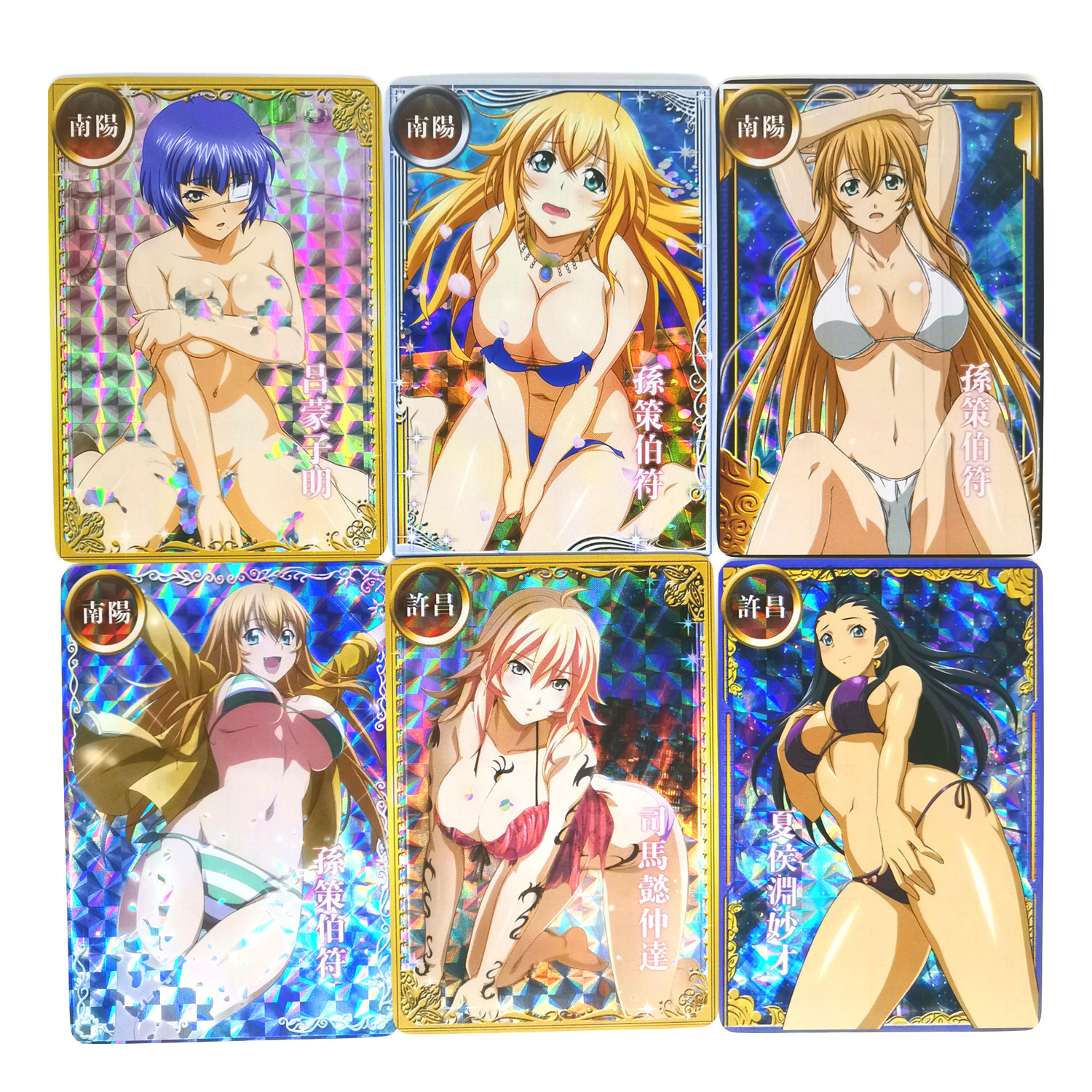 18pcs/set Ikkitousen Second Shot Swimsuit Toys Hobbies Hobby Collectibles Game Collection Anime Cards