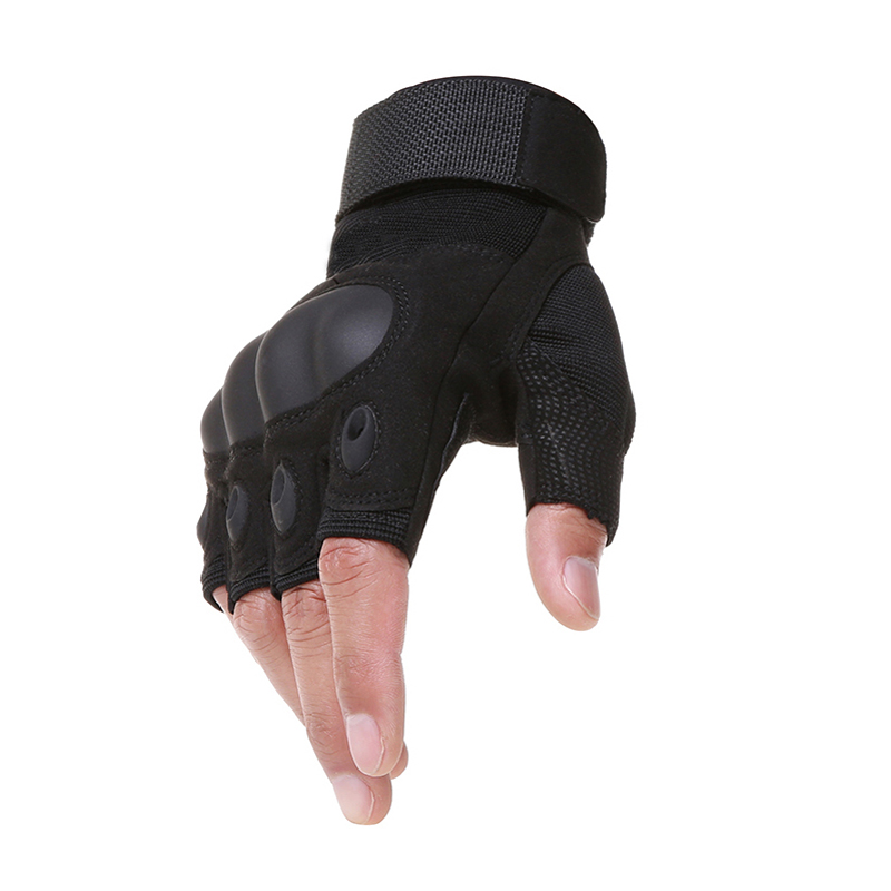 Tactical Fingerless Gloves Military Army Shooting Bicycle Paintball Airsoft Carbon Hard Knuckle Half Finger Gloves
