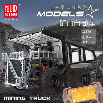 MOC-29973 RC Technic Series Car Compatible With Lepining Motorized Mining Truck T284 Model Kit Building Blocks Bricks Kids Toys 20004 app rc technic series car motor power mobile crane mk ii model building blocks bricks compatible with 42009 toys kids gift