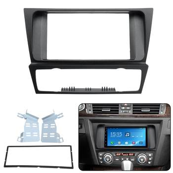 2 Din Radio Audio Fascia Fascias Panel Plate Frame DVD CD Dash Dashboard Cover For BMW 3 Series E90 E91 E92 E93 2004 2005 - 2012 image