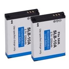 2x для samsung SLB-10A Батарея WB150F WB280F WB201F WB2100 WB800F EX2F