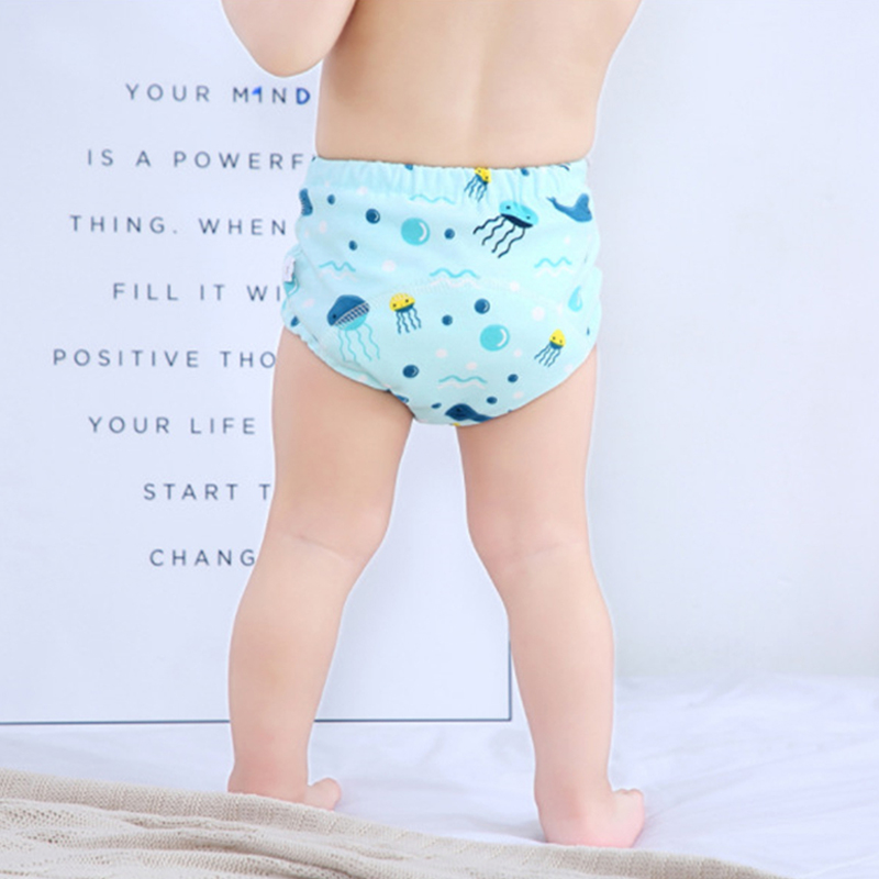 6 Layer Waterproof Reusable Cotton Baby Training Pants Infant Shorts Underwear Cloth Baby Diaper Nappies Panties Nappy Changing 5