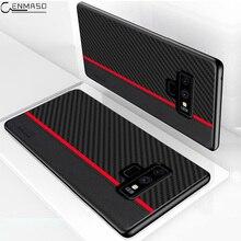 Dla Samsung Note 9 10 Plus 20 Ultra przypadku przypadku ochrony z włókna węglowego dla Samsung Galaxy S20 S8 S9 S10 5G Plus S10e A51 A71 przypadku