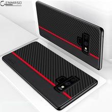 삼성 Note 9 10 20 Plus 케이스 삼성 Galaxy S20 Ultra S8 S9 S10 5G Plus S10e Note 9 케이스 용 탄소 섬유 보호 케이스