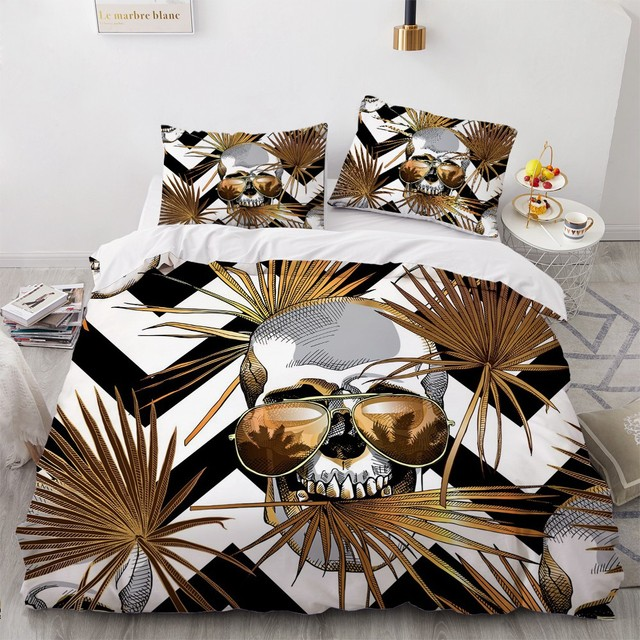 3D PINEAPPLE SKULL BEDDING SETS