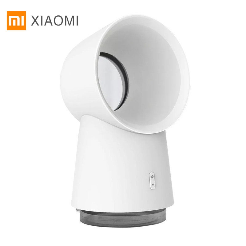 Newest Xiaomi Youpin HL 3 In 1 Mini Cooling Fan Bladeless Desktop Fan Mist Humidifier With LED Light White