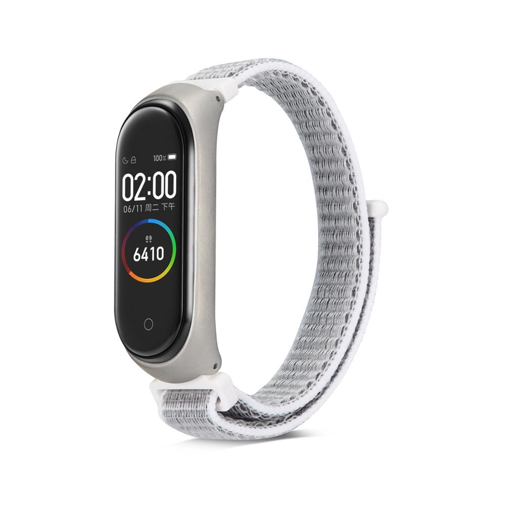 Image 3 - Nylon loop replaceable Bracelet for Xiaomi Mi band 3 Sports Wristband Breathable Strap for Xiaomi Miband 4 smart watch Accessori-in Smart Accessories from Consumer Electronics