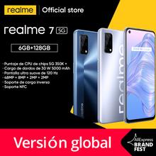 Realme 7 5G Dimensity 800U Smartphone 6GB 128GB 120Hz wyświetlacz 48MP 5000mAh 30W Dart Charge tanie tanio Nie odpinany Inne CN (pochodzenie) Android Zamontowane z boku Rozpoznawania twarzy SuperVOOC english Rosyjski Niemiecki