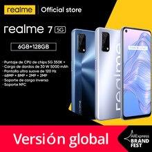 Realme 7 5g dimensão 800u smartphone 6gb 128gb 120hz display 48mp 5000mah 30w dardo carga