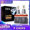 H7 светодиодный Canbus без ошибок комплект головной светильник лампа H4 H11 H8 H9 9005 HB3 9006 HB4 20000LM 6500 к 90 Вт 45mi чипы мини Автомобильная противотуманная ...