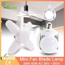 Ampoule LED E27, lampe en forme d'ovni, pliable à 360 degrés, 40W 28W AC 85-265V 6W 12W 20W 220V 240V, projecteur blanc froid/chaud