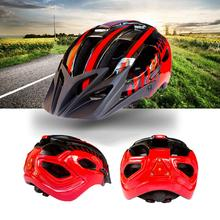 Unisex Professional Bicycle Safety Helmet with Flash Light Integrated Rding Equipment Red Black _ code