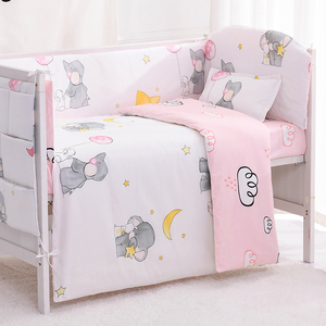 6/9 sztuk słoń łóżko dla małego dziecka zestaw dla dzieci pościel do łóżeczka dla dzieci pościel do pokoiku dziecięcego łóżeczko dziecięce zestaw osłona do łóżeczka 120*60/120*70cm