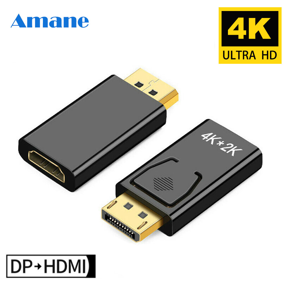 Max 4K 60Hz DP To HDMI 1080P Displayport Adapter Male To Female Cable Converter DisplayPort To HDMI Adapter For PC TV Projector