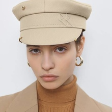 New Newsboy Caps Fashion Earrings Military Cap Flat visor caps