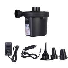 268 portátil bomba de ar elétrica colchão de ar barco carro auto bomba de ar inflável para carro uso doméstico acampamento inflator