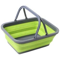Портативное складное пластиковое квадратное ведро для чистки инструментов корзина для белья корзина для хранения воды корзина для овощей ...