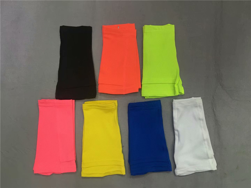 Profession Football Breathable Mesh Wicking Cycling Pants Feet Students Double Layer Shank Power Strip Shin Pads Foot Sock Prote