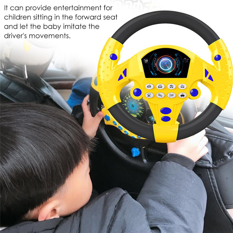 Baby Toys Copilot Steering Wheel Puzzle Baby Developing Educational Toy Simulation Steering Toys Car For Child Xmas Gift