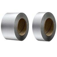 New Newly Aluminum Foil Butyl Rubber Tape Self Adhesive Waterproof for Roof Pipe Marine Repair 5Cm x 10M|  -