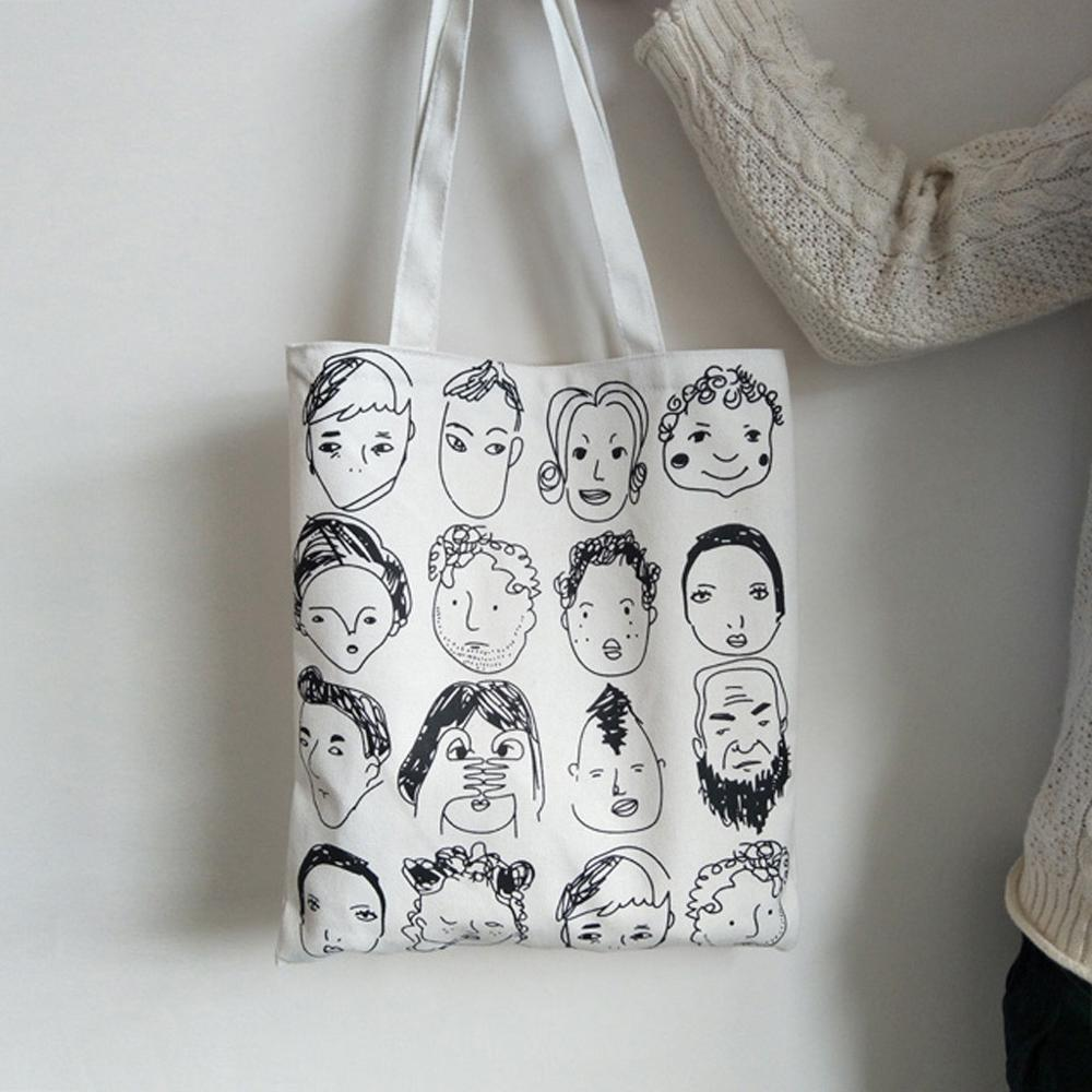 2019 Eco Recyclable Packaging Bag Shopping Bags Reusable Cloth Supermarket Printing Tote Fashion Shape Letter
