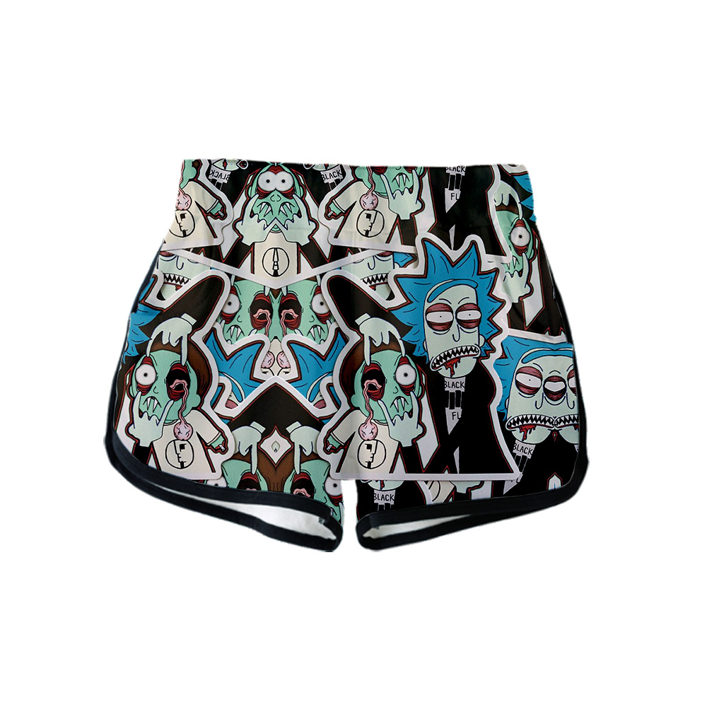 Rick And Morty 3D Printed Women Shorts Fashion Streetwear Shorts 2019 New Arrival Hot Sale Girls Casual Streetwear Summer Wear
