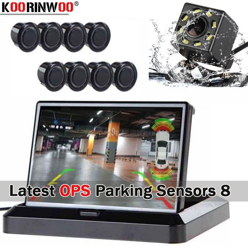 Koorinwoo Electromagnetic Dual Core CPU Video OPS System Car Parking Sensor 4 Front Monitor Camera 4 Reverse Display Car Module|Parking Sensors| |  - title=