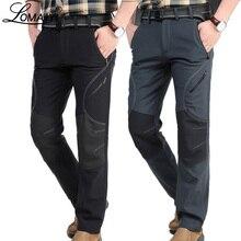 Мужские зимние теплые повседневные брюки, мужские черные толстые флисовые брюки, мужские мягкие брюки, мужские армейские военные водонепроницаемые брюки AM093