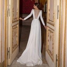 Скромная майка с длинными рукавами свадебные платья трапециевидной