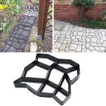 Garden DIY Plastic Path Maker Pavement Model Concrete Stepping Stone Cement Mould Brick HY99