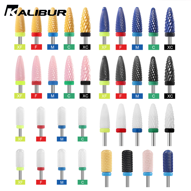 KALIBUR 20 Types Ceramic Nail Drill Bits 3/32
