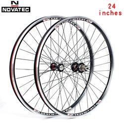 Novatec-ensemble de roues en alliage d'aluminium de 24 pouces A141SB F062SB, 4 roulements, 7-11 vitesses 32H
