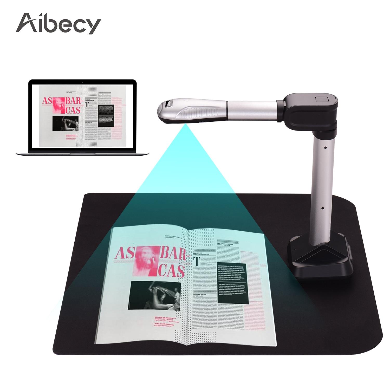 Aibecy BK51 USB Document Camera Scanner Capture Size A3 HD 16 Mega-pixels HighSpeed Scanner with LED Light for PDF Format Export