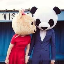 Новый талисман головы панды и плюшевого мишки карнавальный костюм