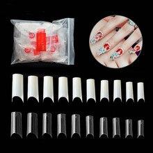 Faux ongles demi-français incurvés en C, 500 pièces, Gel acrylique UV, pointe de manucure, Ultra Flexible