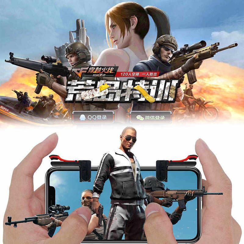Mobile Gioco trigger Pulsante di fuoco Obiettivo Chiave smart phone giochi L1R1 PUBG trigger del telefono maniglia Controller per iphone 11pro Max