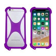 Caso universal para nuu a5l 5.5 polegada silicone macio para trás caso da pele para nuu a6l 5 polegada telefone