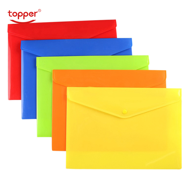 1pcs/Opp Opaque Plastic A4 FoldersTransparent File Bag Document Hold Bags Folders Filing Paper Storage Office School Supplies