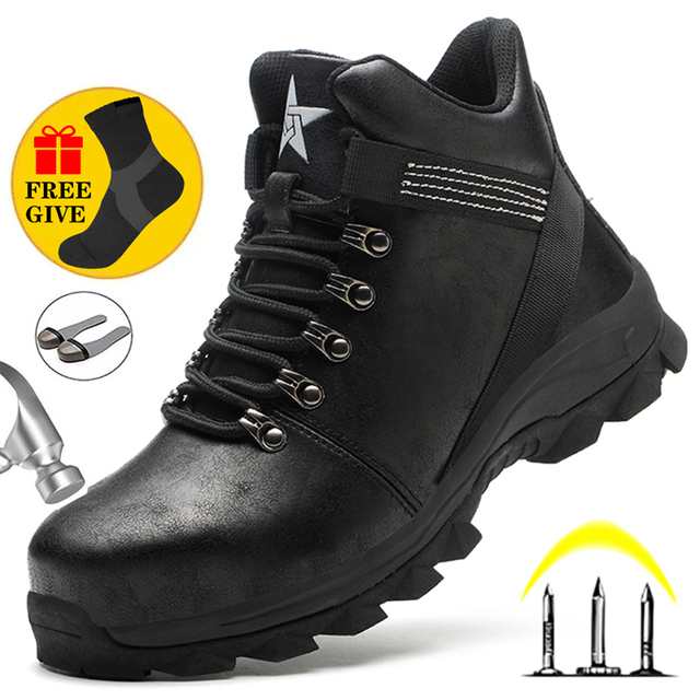 Male Work Safety Boots Men
