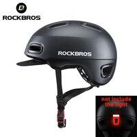ROCKBROS Radfahren Helm für Roller Bicyle LED Licht Fahrrad Unisex Mtb Helm für Männer Frauen Einstellbare Hut Fahrrad Zubehör