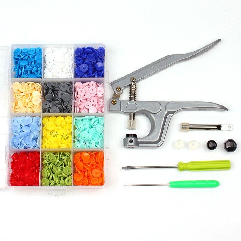 Кнопка + u-образная застежка, плоскогубцы, четыре в одной кнопке, Ручной пресс, инструмент, смешанные пуговицы, набор, сделай сам, ручной швейн...