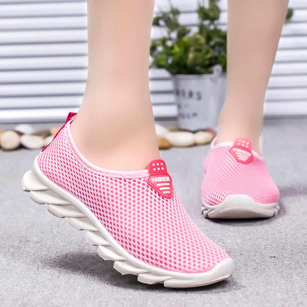Frauen laufende turnschuhe damen Freizeit Atmungsaktives Mesh Outdoor Fitness Laufende Turnschuhe Schuhe Trainer Zapatillas Mujer # g30