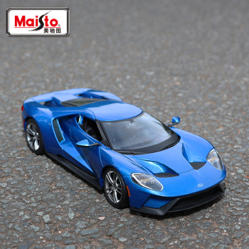 Maisto 1:18 2017 Ford GT Alloy Retro Car Model Classic Car Model Car Decoration Collection gift maisto 1 18 2017 ford gt yellow silver blue car diecast exquisite luxury car toy model collecting car model for men gift 31384