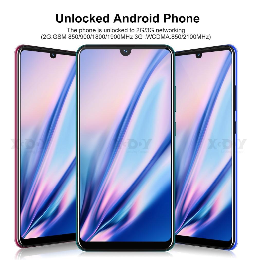 He70ff4b4ef05465188a86270b22c8292R XGODY 3G Mobile Phone 9T 1GB 4GB 6.26'' QHD Screen MTK6580 Quad Core Android 9.0 Waterdrop Full Screen 2800mAh Smartphone